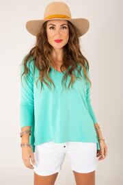 Mint For You Top - FINAL SALE