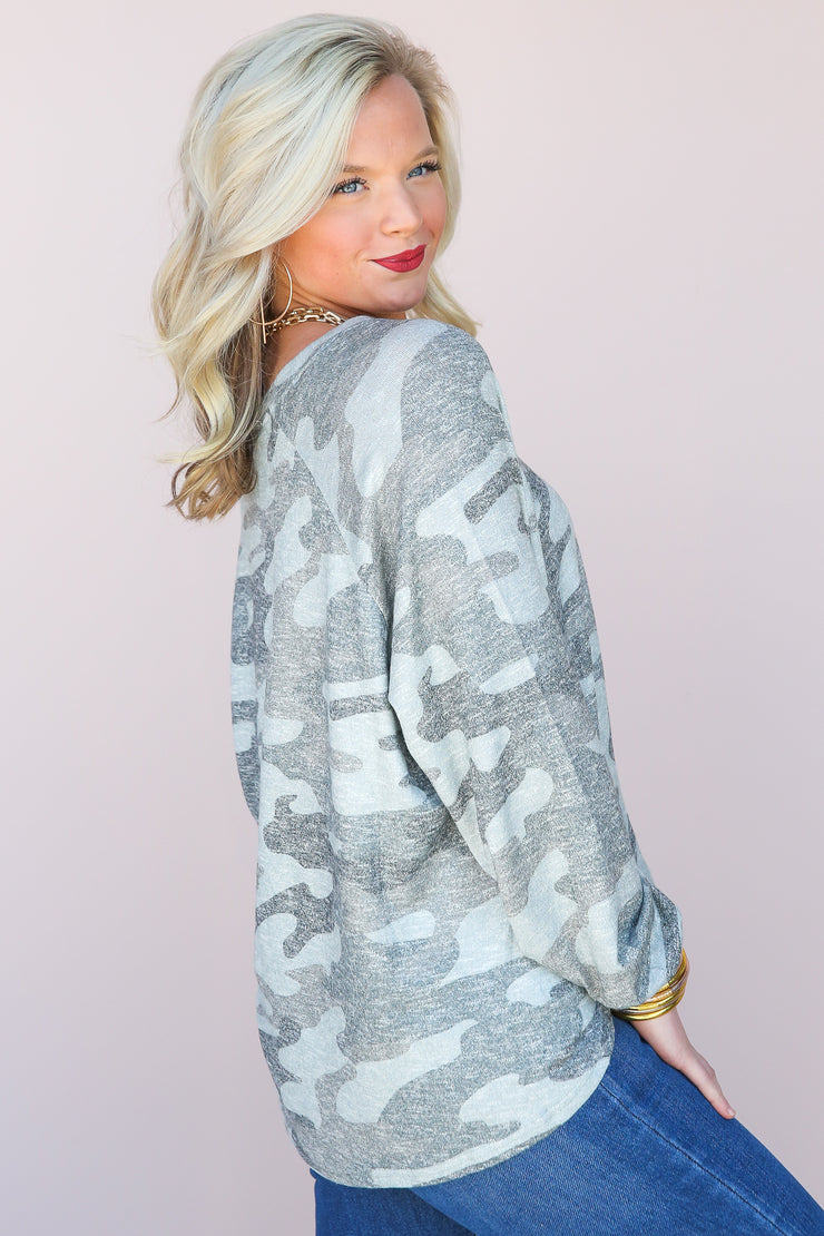 Plira Camo Slub Sweater | Z Supply - FINAL SALE
