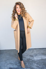 Feeling Chatty Camel Jacket