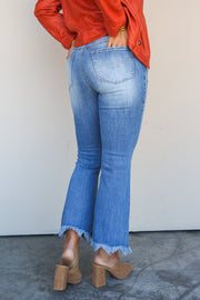 Harlo Mid Rise Crop Flare Jean