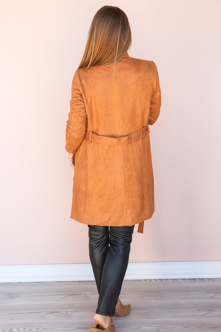 Only Reason Belted Suede Jacket - FINAL SALE