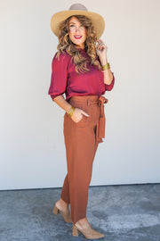 Sleek Slate Wide Leg Pant - FINAL SALE