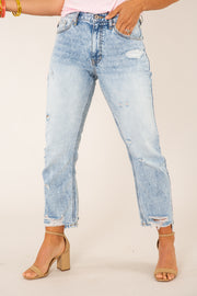 Karla High Rise Straight Jeans
