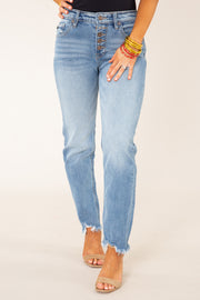 Marlin High Rise Slim Straight Jeans