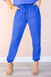 Irreplaceable Satin Joggers