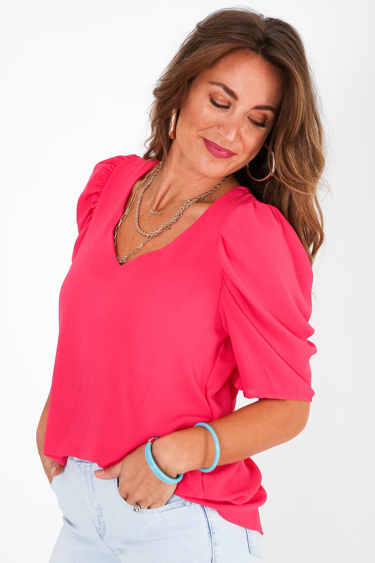 Shining Star Puff Sleeve Blouse