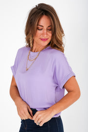 Irreplaceable Plisse Sleeve Blouse