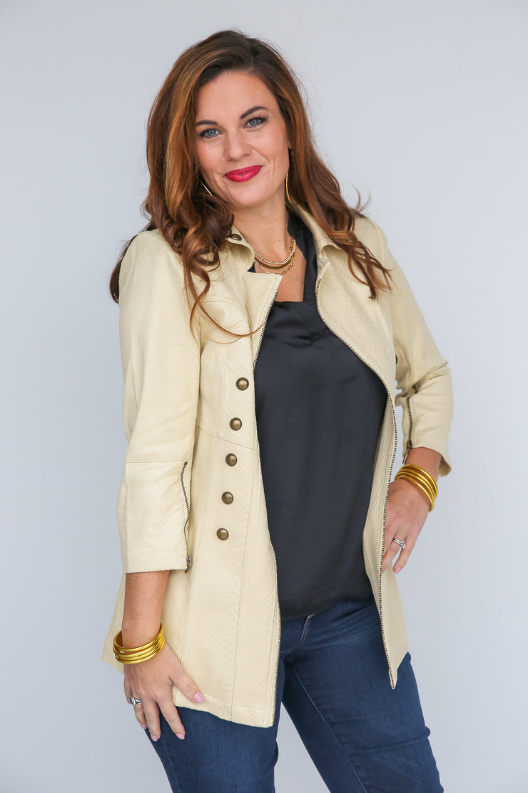 Too Chic Faux Suede Jacket - FINAL SALE