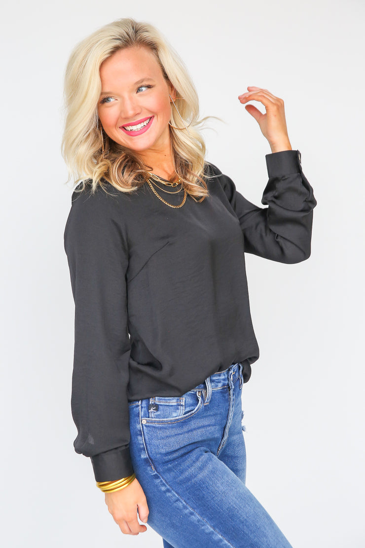 Easy Street Long Sleeve Blouse - FINAL SALE