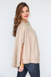Coffee Date Poncho Top - FINAL SALE