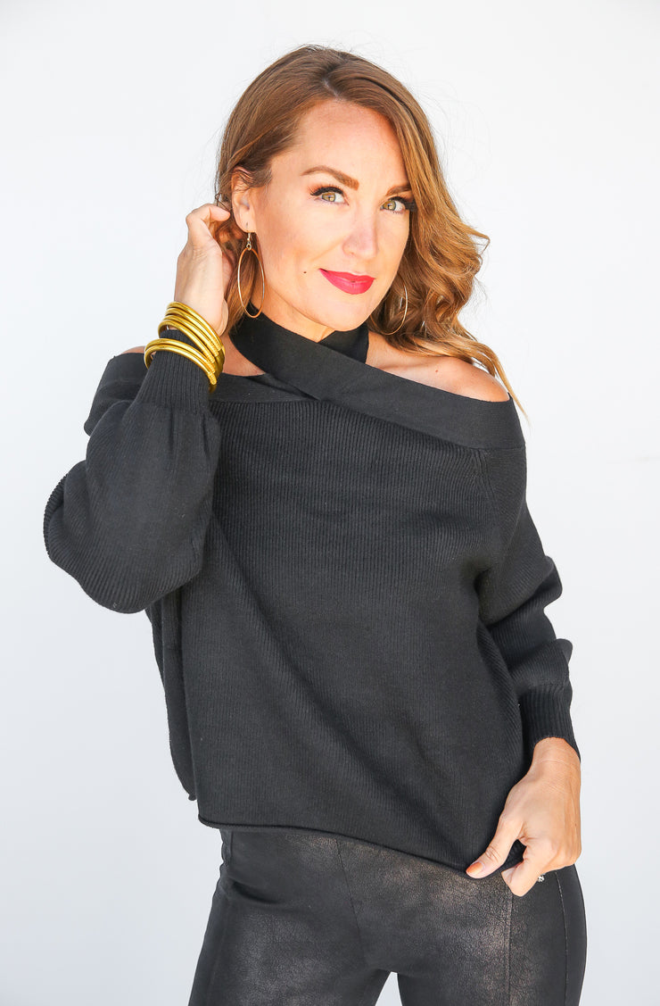 Brooke Cold Shoulder Top - FINAL SALE