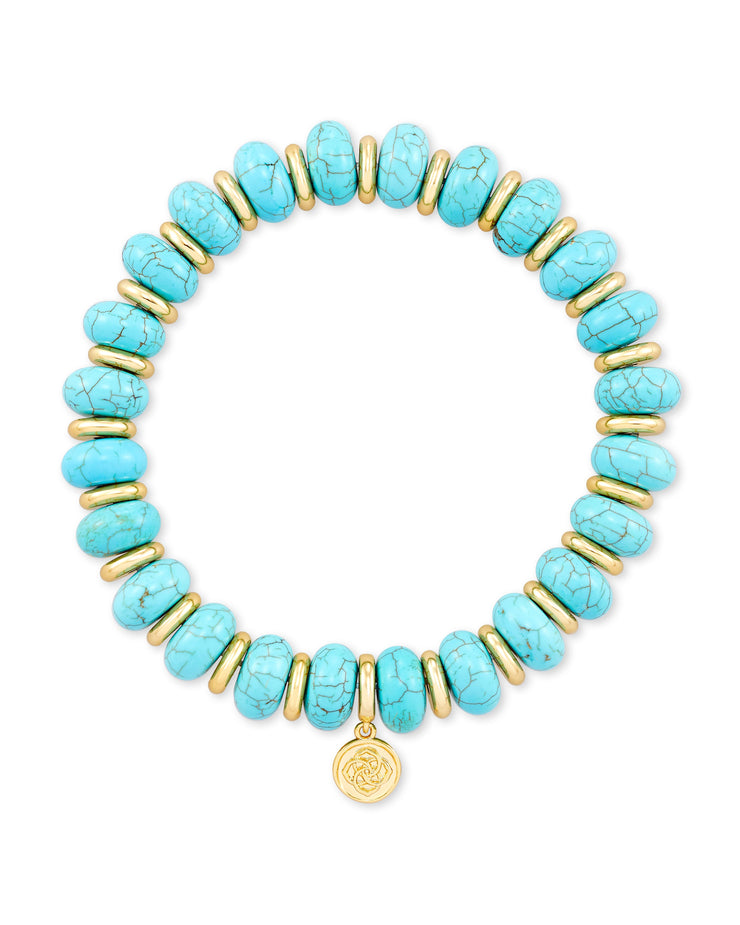 Rebecca Stretch Bracelet - Variegated Turquoise