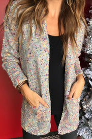 Rainbow Dreams Popcorn Cardigan