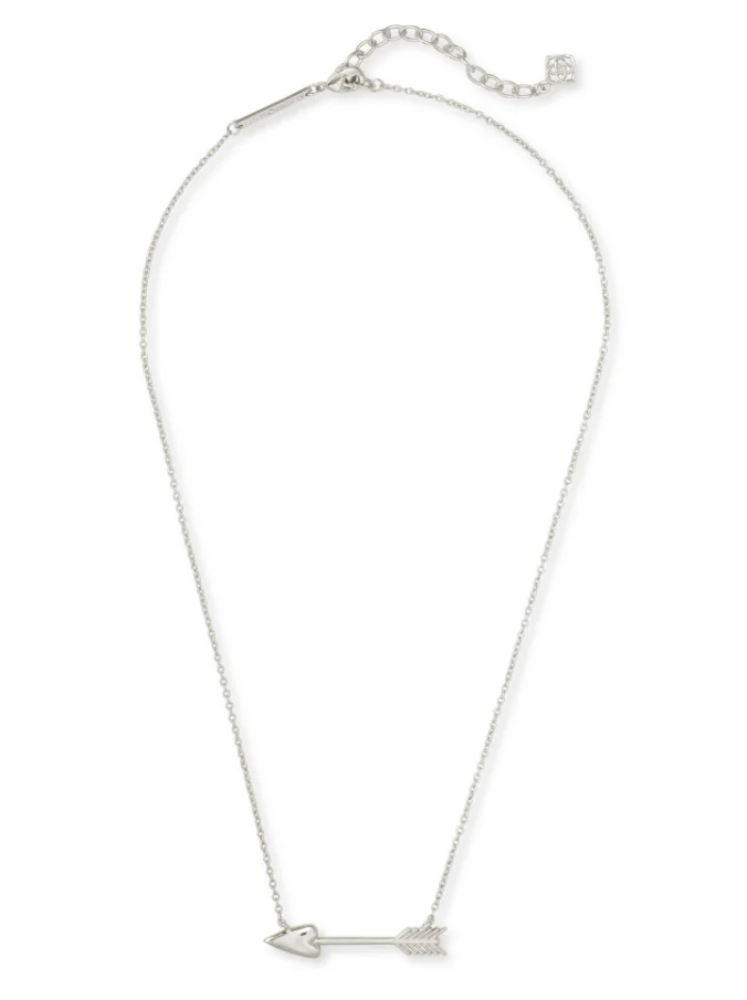 Zoey Pendant Necklace - Rhodium - FINAL SALE