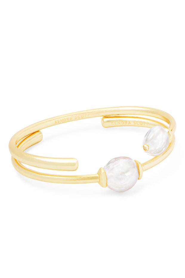 Amiya Gold Cuff Bracelet - The Willow Tree Boutique