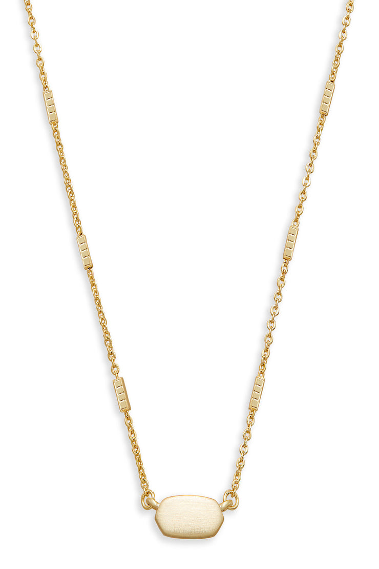 Fern Necklace Gold - The Willow Tree Boutique