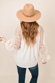 Happy Melody Zebra Ruffle Top
