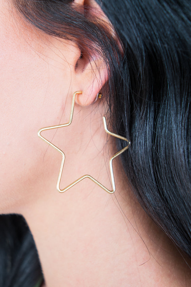 Olivia Star Earrings Gold - The Willow Tree Boutique