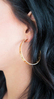 Grace Star Earrings-Gold - The Willow Tree Boutique