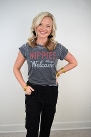 Hippies Always Welcome Tee - The Willow Tree Boutique
