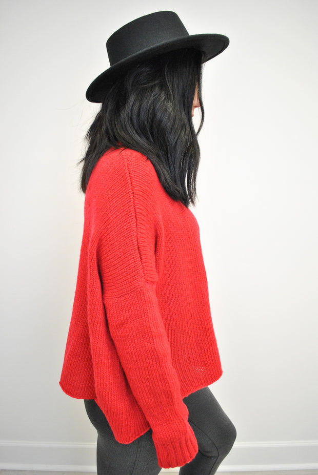Cropped Boyfriend Sweater | Wooden Ships