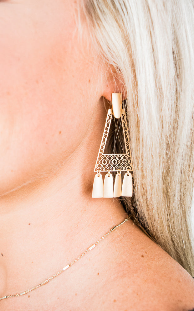 Stephanie Earrings-Gold