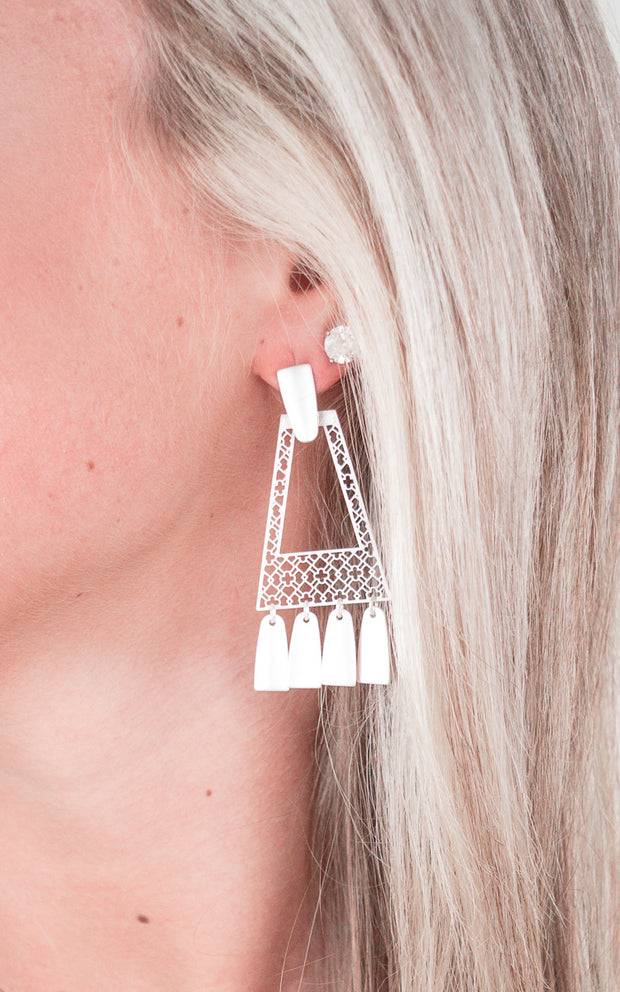 Stephanie Earrings-Silver