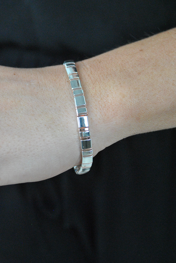 Picasso Mixed Silver Rose Erimish Bracelet