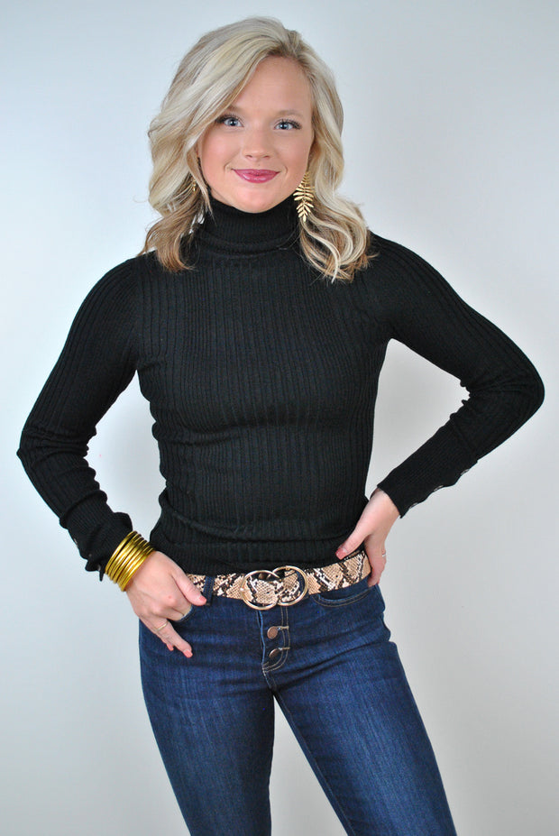Snake Faux Leather Belt