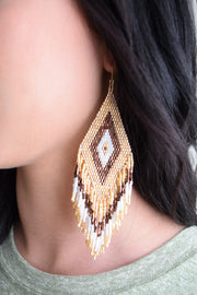 Jennifer Earring/Gold & Brown