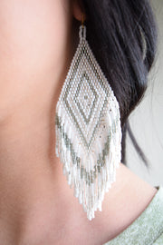 Jennifer Earring/White
