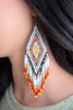 Jennifer Earring/Orange & Blue