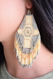 Jennifer Earring/Gold & Cream