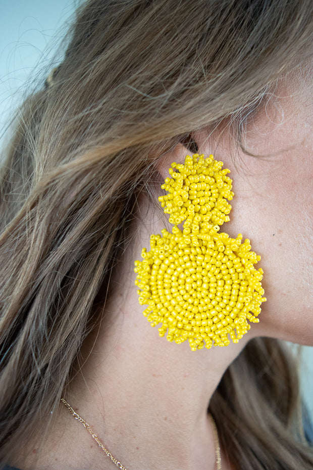 You Make Me Smile Earrings Yellow