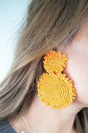 You Make Me Smile Earrings-Orange