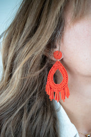 Come Closer Earrings-Red
