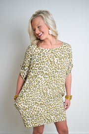 Amelia Animal Dress - The Willow Tree Boutique