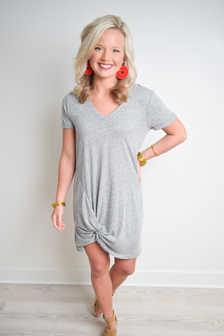 The Triblend Side Knot Dress - The Willow Tree Boutique
