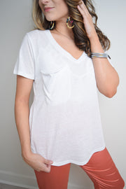 The Triblend Pocket Tee - The Willow Tree Boutique