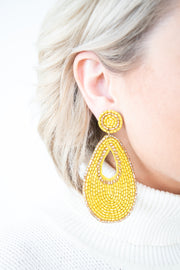 All That Glitters Earrings-Yellow