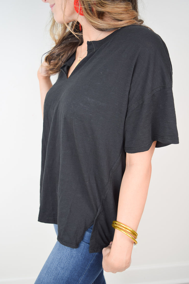 The Airy Slub Slouchy Tee - The Willow Tree Boutique