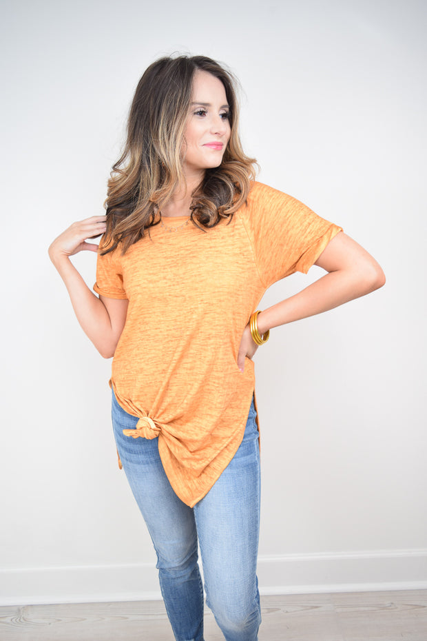 The Airy Slub Slit Tunic - The Willow Tree Boutique