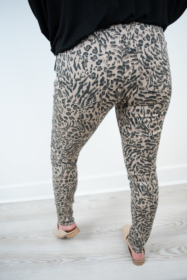 Democracy Animal Side Zip Jegging