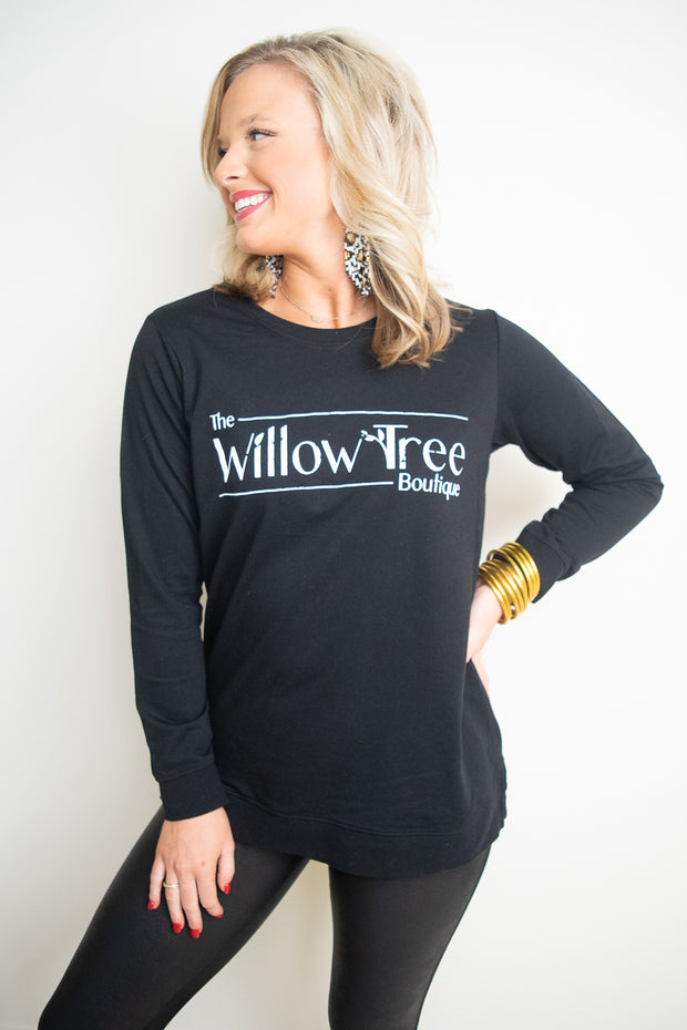 Willow Tree Sweatshirt with Side Slits