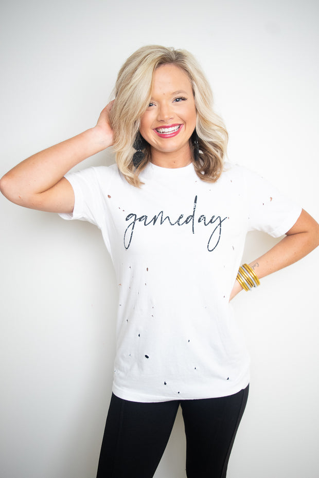 Distressed Gameday Tee