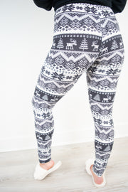 Fair Isle Christmas Leggings