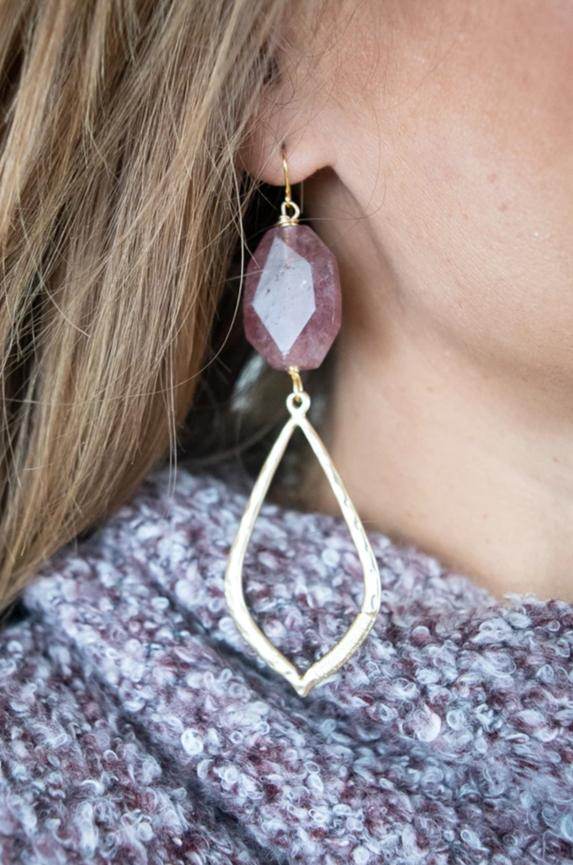 Jennifer Stone Earrings | Rose