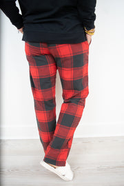 Plaid Drawstring Pants