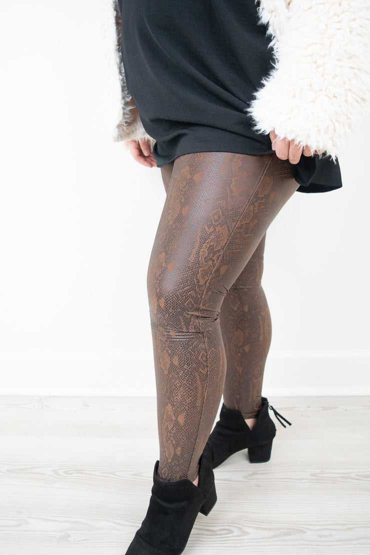 Snake Skin Faux Leather