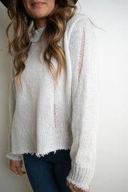 Oliver Distressed Sweater | Wooden Ships